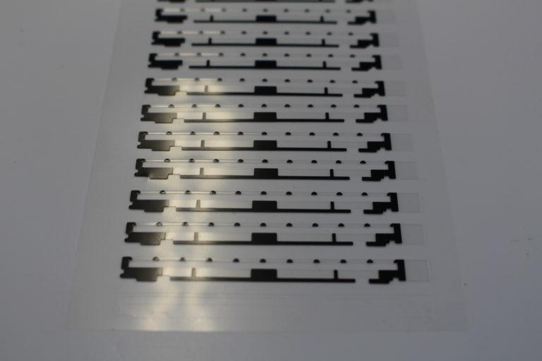 液晶ディスプレイなどの遮光フィルムへの加工